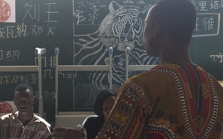 Mandarin in Africa: a lesson at the Confucius Institute at Cheikh Anta Diop University in Dakar, Senegal.