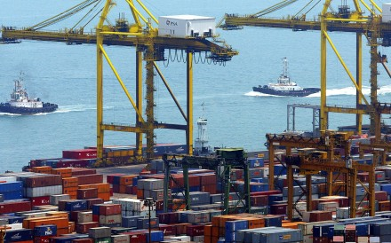 The Port of Singapore Authority Keppel terminal in February 2005. Singapore's lack of a rail connection to China could prove a liability in its bid to connect to the Belt and Road Initiative. Photo: AFP