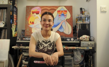 Catherine Grossrieder, artist and graphic designer, in Happy Valley. Picture: Bruce Yan