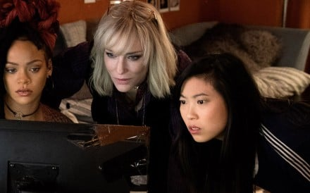 Rihanna, Cate Blanchett and Awkwafina in Ocean's 8. Photo: Barry Wetcher/Warner Bros. Pictures-Village Roadshow Pictures