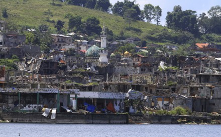 The ruins of Marawi in the southern Philippines a year after Muslim militants tried to take over the city. Photo: AP