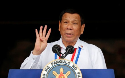 President Rodrigo Duterte has rejected suggestions that a recently concluded review of the nation's charter is meant to prolong his stay beyond his six-year term, which ends in 2022. Photo: Reuters
