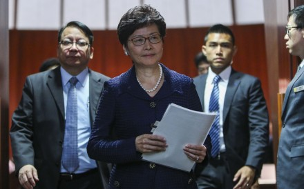 Chief Executive Carrie Lam says there is no consensus in Hong Kong society on the issue of gay marriage, and that the government will not push to legalise it any time soon. Photo: Winson Wong