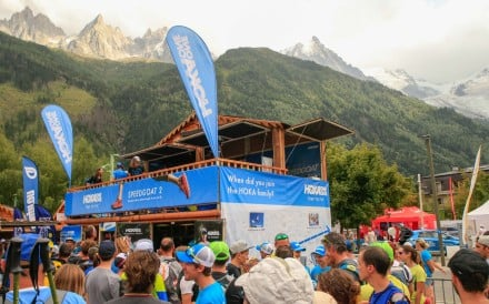 The Ultra Trail of Mont Blanc attracts huge crowds and commercial sponsors, but says offering prize money would ruin the sport's values. Photo: Hoka One One