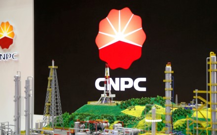 The CNPC logo at the World Gas Conference in Paris, France in 2015. Photo: Reuters