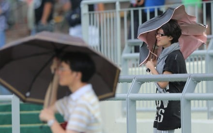 Racing fans brave the weather at Sha Tin in 2015. Photo: Kenneth Chan