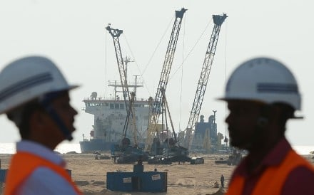 Chinese investors carried the losses when the US$1.4 billion mega-project near Sri Lanka's main port was suspended pending an environmental assessment. Photo: AFP