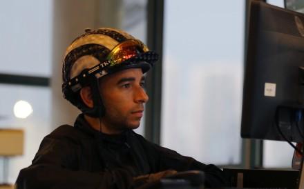 Jockey Joao Moreira studies. Photos: Kenneth Chan