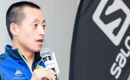 """Kafir Chen, Amer Sports general manager of Greater China, says not everyone can run a 100-miler """"and the way to grow the sport is to have fun, it is most important"""". Photos: Handout"""