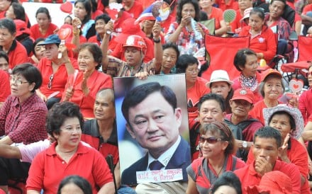 Supporters of former premier Thaksin Shinawatra during a rally in Bangkok in 2010. Photo: Xinhua