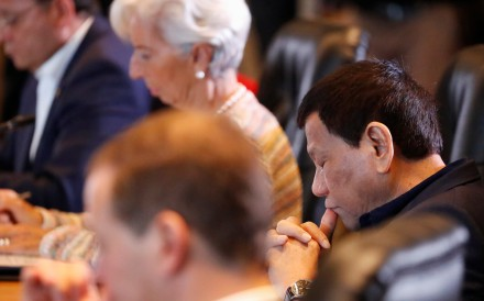 Philippine President Rodrigo Duterte attends a session at the Apec summit in Port Moresby, Papua New Guinea. Photo: Reuters
