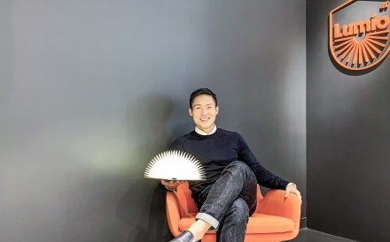 Max Gunawan with a Lumio at their office in Hong Kong.