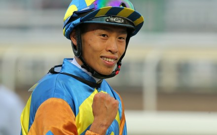 Vincent Ho celebrates a winner earlier this season. Photos: Kenneth Chan