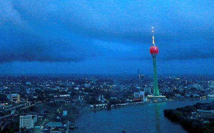 The Lotus Tower in Colombo was built with Chinese funding. Photo: Reuters
