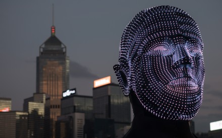 A light installation by Hungarian artist Viktor Vicsek is displayed on the Central harbour waterfront in Hong Kong, on December 3, as part of a pulse light festival. According to the most recent IMD global talent ranking, Hong Kong fell six places to rank 18th in attracting and fostering talent. Photo: EPA-EFE