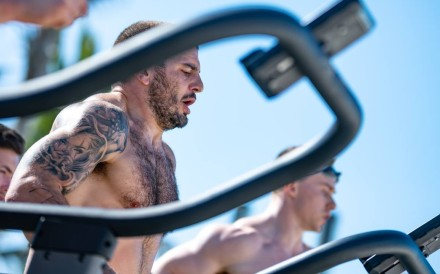 Mat Fraser during day one. Photo: Dubai CrossFit Championship