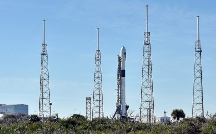 The SpaceX Falcon 9 rocket at Cape Canaveral, Florida on December 18, 2018. Photo: Reuters