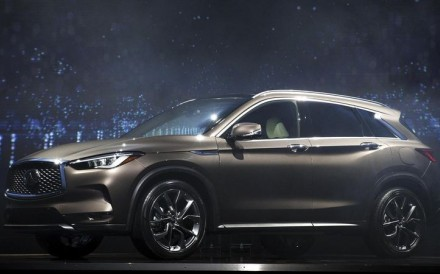 The Infiniti QX50 looks large but comes with only four cylinders and 268 horsepower. Photo: Troy Harvey / Bloomberg