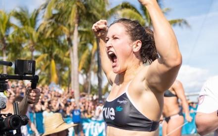 Tia-Clair Toomey in action in Miami. Photos: Wodapalooza
