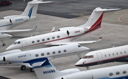 About 1,500 private jets, including many made by leading manufacturers Gulfstream and Bombardier, are transporting attendees to and from this week's World Economic Forum in Davos, Switzerland. Photo: AP