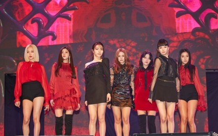 CLC performs Show at the unveiling of its eighth mini album 'No.1' at Blue Square hall in Seoul on Wednesday. Photo: Courtesy of Cube Entertainment