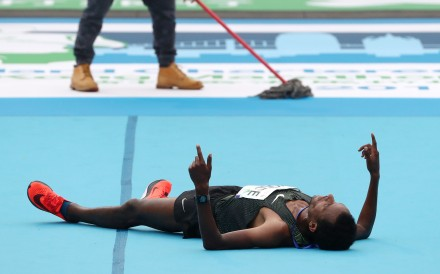 Dawit Wolde, who just came second in the 2019 Hong Kong Marathon, looks like he needs a recovery day. Photo: Nora Tam
