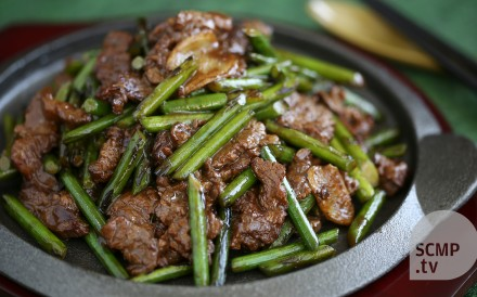 After marinating the meat, this easy stir-fry takes just a few minutes to prepare.