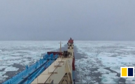 "While China plans its ""Polar Silk Road"" under the Belt and Road Initiative, Chinese commercial boats sail along shipping routes in the Arctic to transport cargo. There are currently two routes: the..."