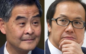 Chief Executive Leung Chun-ying (left) is suing Kenneth Leung. Photos: SCMP Pictures