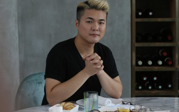 Fashion designer Erbert Chong talks about his work over lunch at French restaurant Ivy