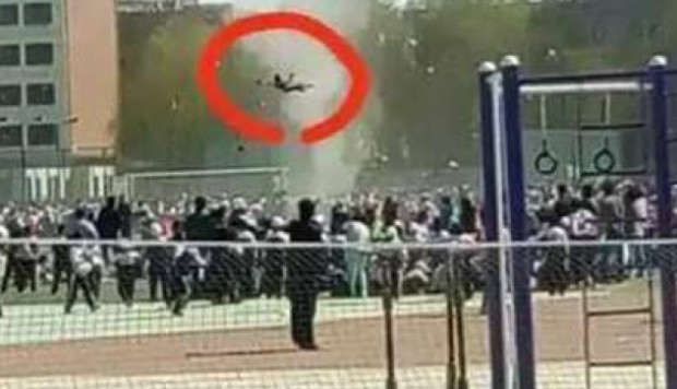Chinese Boy Lifted Four Metres Into Air As Mini Tornado Hits School Sports Day South China
