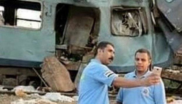 Egypt punishes medics who took 'selfies' at scene of train disaster