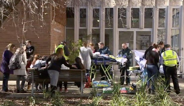 Four students injured in baseball bat attack on Australian National University campus in Canberra