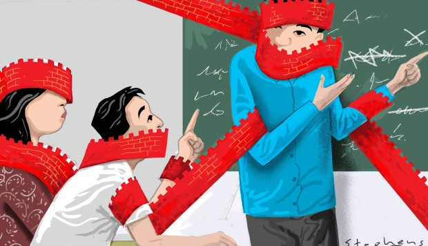 As Communist Party censors ban all criticism in China's classrooms, what remains?