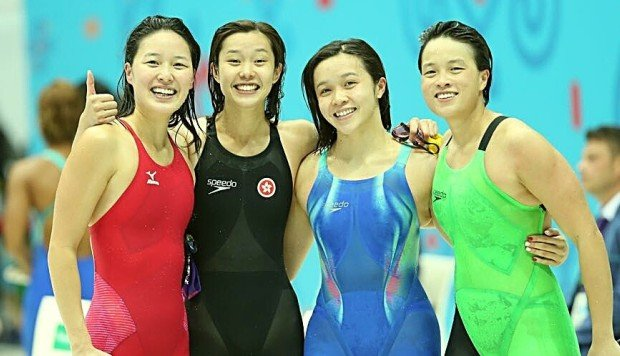 Hong Kong Swimmers Set Record With Gold Medal Relay -9157