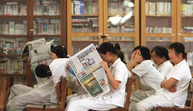 Prisoners in Hong Kong who read no Chinese or English have few books to choose from behind bars