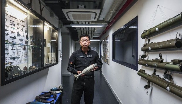 Bomb squad chief for Hong Kong talks luck, death and duty