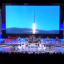 The Moranbong band seen performing at a concert to celebrate a successful rocket launch earlier this year. Screenshot from North Korean television