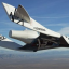 One of Virgin Galactic's ships carrying out a flight test. Photo: AP