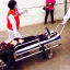 An injured woman is rushed to hospital in northern Beijing. Photo: SCMP Pictures