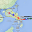 Typhoon Rammasun will hit the Philippines before entering the South China Sea and possibly heading towards Hong Kong, pushing bad weather ahead of it. Graphic: Hong Kong Observatory