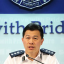 Chief Superintendent of the Hong Kong police's public relations branch, Hui Chun-tak speaks to the media. Photo: SCMP Pictures