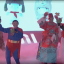 Lei (center, in red) follows the tradition of many Chinese billionaires who like to put on extravagant shows during office parties. (Picture: Xiaomi/Tencent Video)