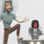 Justin Pin is introducing the new Q-bot. (Picture: Netflix)