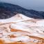 Snow in the Sahara desert near the town of Ain Sefra, Algeria Dec 20. Photo: Rex Features/AP Images