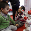 """A """"Nao"""" humanoid robot by Aldebaran Robotics dances to the Chinese song """"Little Apple"""" at the World Robot Exhibition during the World Robot Conference in Beijing, China, November 24, 2015. Photo: Jason Lee/Reuters"""