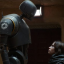 Robot K-2SO (left, with Felicity Jones as Jyn Erso) is the undisputed star in the latest Star Wards installment. A sign of things to come? Photo: AP