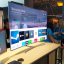 A Samsung Electronics employee demonstrates the Steam Link computer game streaming feature with the company's new smart TV during the Consumer Electronics Show 2017 at the Las Vegas Convention Centre. Photo: Yoon Sung-won/Korea Times
