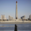 The Taedong River and Juche Tower in Pyongyang, North Korea. Photo: AP