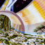 NASA's illustration of a future space colony. Photo; NASA Ames Research Center